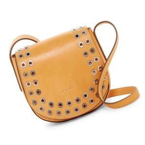 Frye Cassidy Leather Saddle Crossbody Yellow Bag